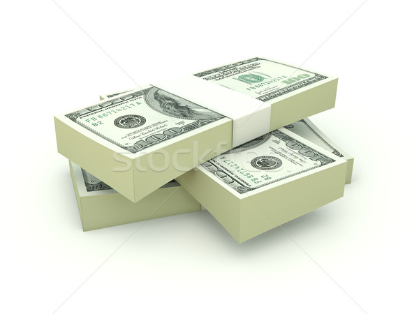 Stack of dollars isolated on white Stock photo © MikhailMishchenko