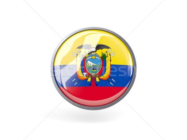 Round icon with flag of ecuador Stock photo © MikhailMishchenko