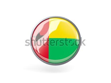 Ikon zászló Guinea fém keret utazás Stock fotó © MikhailMishchenko