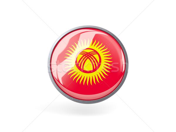 Ikon bayrak Kırgızistan Metal çerçeve seyahat Stok fotoğraf © MikhailMishchenko