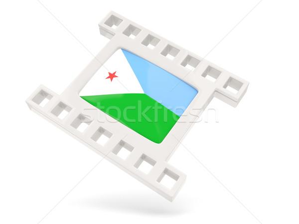 Movie icon with flag of djibouti Stock photo © MikhailMishchenko