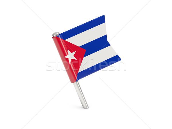 Flag pin of cuba Stock photo © MikhailMishchenko
