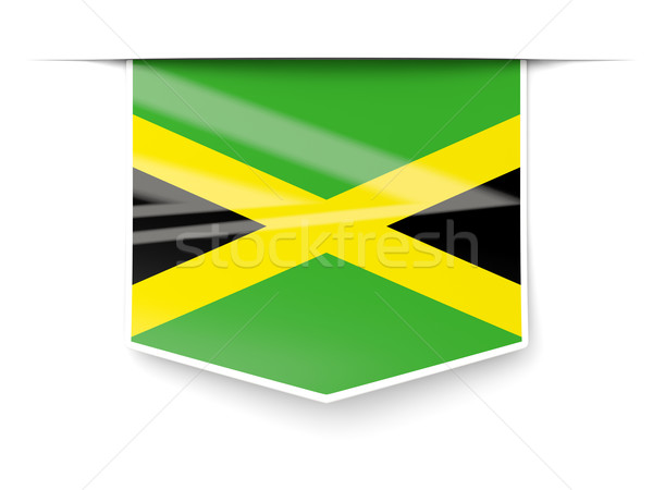 Square label with flag of jamaica Stock photo © MikhailMishchenko