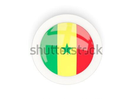 Round button with flag of senegal Stock photo © MikhailMishchenko