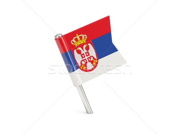 Flag pin of serbia Stock photo © MikhailMishchenko