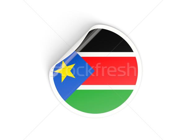 Sticker vlag zuiden Soedan geïsoleerd witte Stockfoto © MikhailMishchenko
