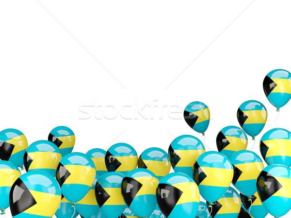Voador balões bandeira Bahamas isolado branco Foto stock © MikhailMishchenko