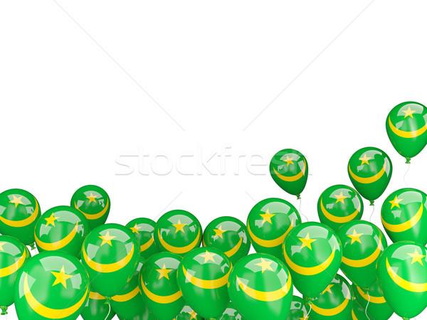 Flying balloons with flag of mauritania Stock photo © MikhailMishchenko