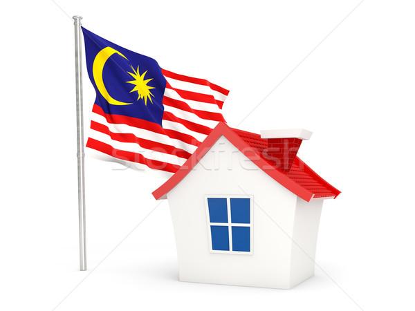 House with flag of malaysia Stock photo © MikhailMishchenko