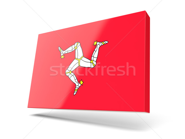 Square icon with flag of isle of man Stock photo © MikhailMishchenko