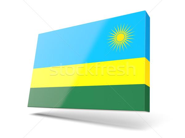 Square icon with flag of rwanda Stock photo © MikhailMishchenko
