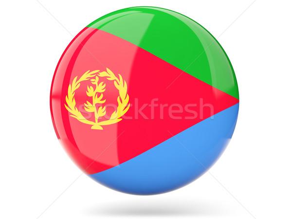 Round icon with flag of eritrea Stock photo © MikhailMishchenko