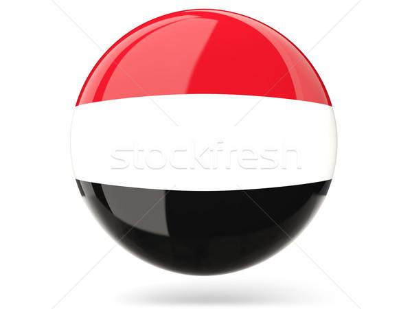 ícone bandeira Iémen assinar branco Foto stock © MikhailMishchenko