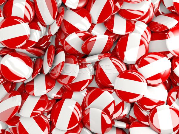 Background with round pins with flag of peru Stock photo © MikhailMishchenko