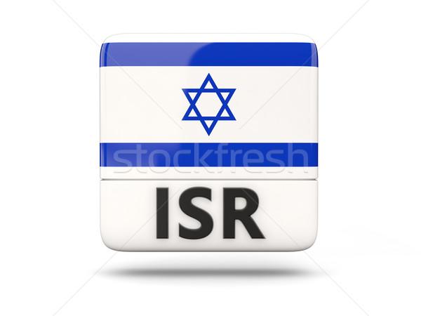 Square icon with flag of israel Stock photo © MikhailMishchenko