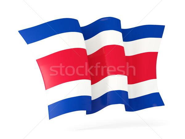 Waving flag of costa rica. 3D illustration Stock photo © MikhailMishchenko