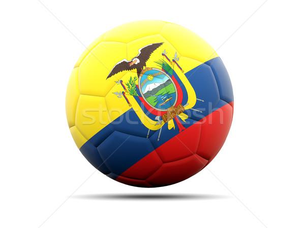 Futball zászló Ecuador 3d illusztráció futball sport Stock fotó © MikhailMishchenko