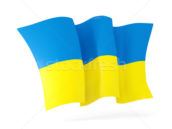 Waving flag of ukraine. 3D illustration Stock photo © MikhailMishchenko