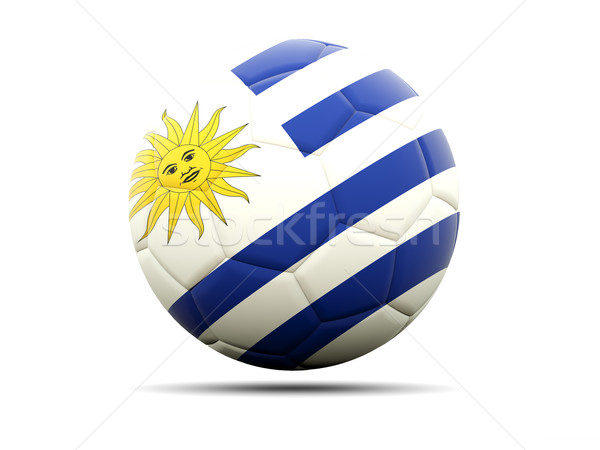 Football with flag of uruguay Stock photo © MikhailMishchenko