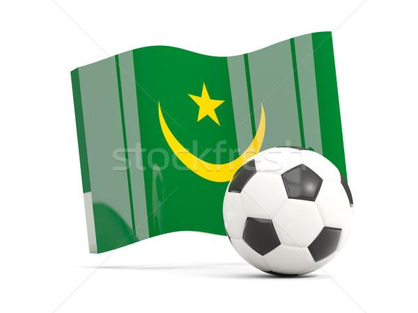 Football with waving flag of mauritania isolated on white Stock photo © MikhailMishchenko