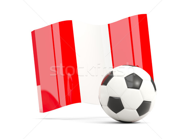 Futbol bayrak yalıtılmış beyaz 3d illustration Stok fotoğraf © MikhailMishchenko