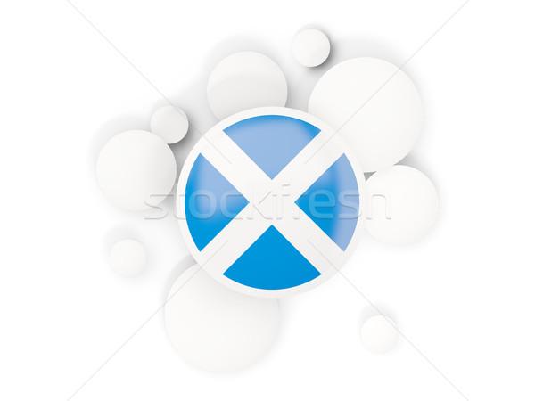Zászló Skócia körök minta izolált fehér Stock fotó © MikhailMishchenko