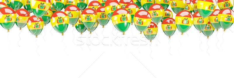 шаров кадр флаг Боливия изолированный белый Сток-фото © MikhailMishchenko