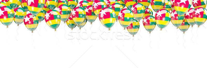 Palloncini frame bandiera Togo isolato bianco Foto d'archivio © MikhailMishchenko