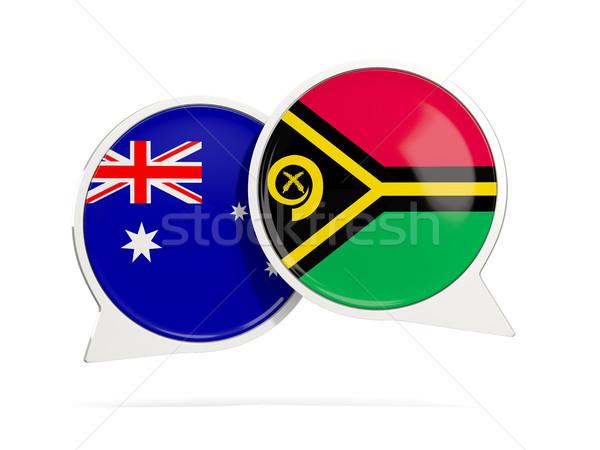 Stock fotó: Chat · buborékok · Ausztrália · Vanuatu · izolált · fehér