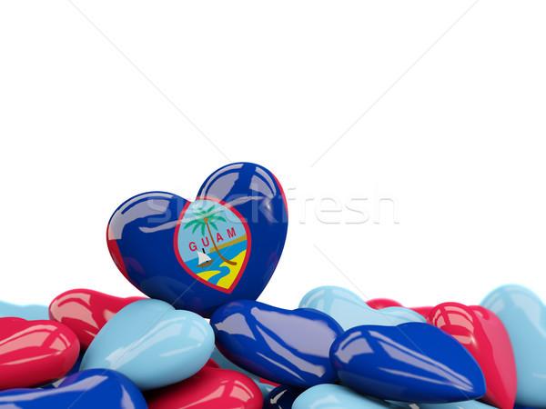 Heart with flag of guam Stock photo © MikhailMishchenko