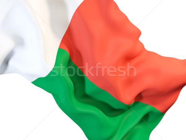 Waving flag of madagascar Stock photo © MikhailMishchenko