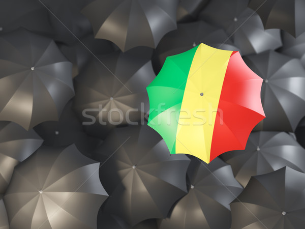 Umbrella with flag of republic of the congo Stock photo © MikhailMishchenko