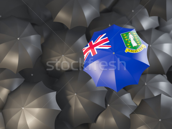 Esernyő zászló Virgin-szigetek brit felső fekete Stock fotó © MikhailMishchenko