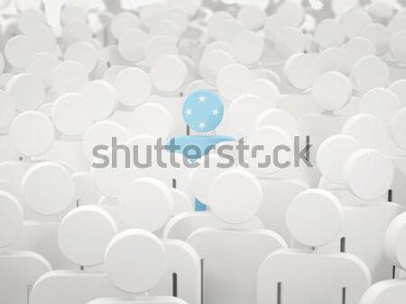 男 フラグ ミクロネシア 群衆 3次元の図 にログイン ストックフォト © MikhailMishchenko