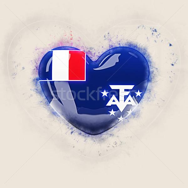 сердце флаг французский южный Гранж 3d иллюстрации Сток-фото © MikhailMishchenko