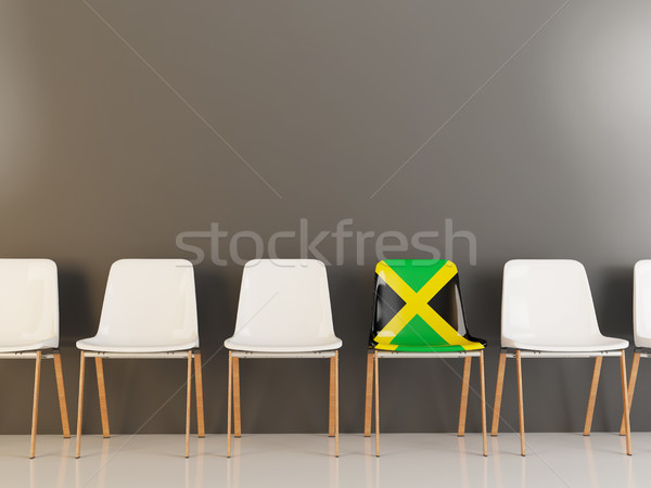 Chair with flag of jamaica Stock photo © MikhailMishchenko