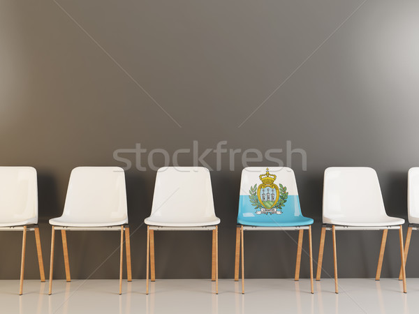 Председатель флаг Сан-Марино белый стульев Сток-фото © MikhailMishchenko