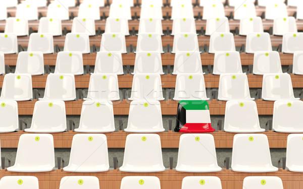 Stock photo: Stadium seat with flag of kuwait