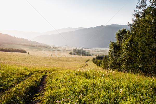 Alpine paysages montagnes central Asie randonnée Photo stock © MikhailMishchenko