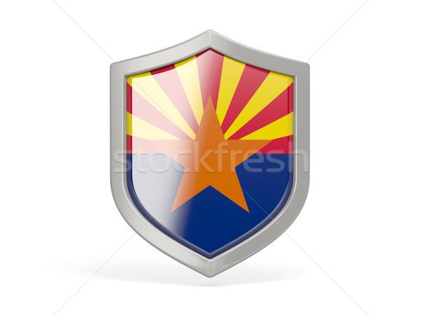 Escudo ícone bandeira Arizona Estados Unidos local Foto stock © MikhailMishchenko