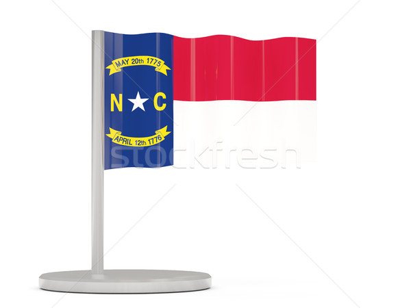 Flag pin with flag of north carolina. United states local flags Stock photo © MikhailMishchenko