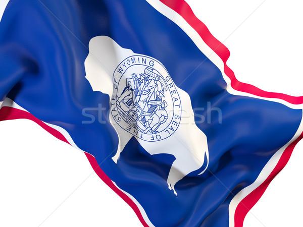 Wyoming bandera Estados Unidos local banderas Foto stock © MikhailMishchenko