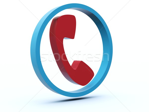 Phone icon Stock photo © MikhailMishchenko