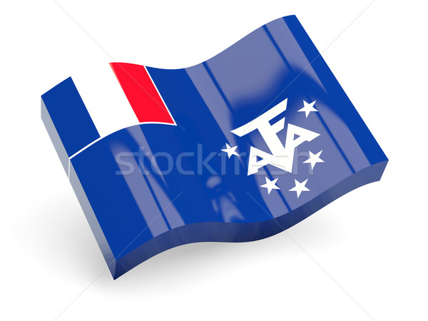 3d flag of french southern territories Stock photo © MikhailMishchenko