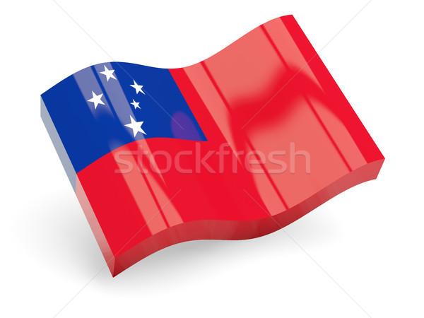 3D vlag Samoa geïsoleerd witte golf Stockfoto © MikhailMishchenko