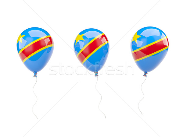 Air balloons with flag of democratic republic of the congo Stock photo © MikhailMishchenko