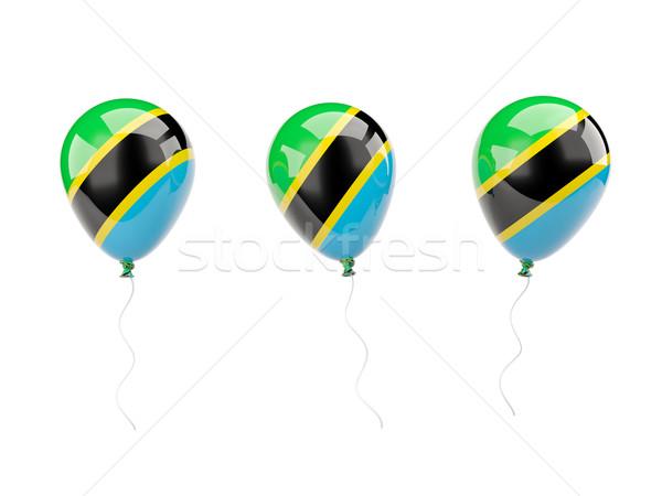 воздуха шаров флаг Танзания изолированный белый Сток-фото © MikhailMishchenko