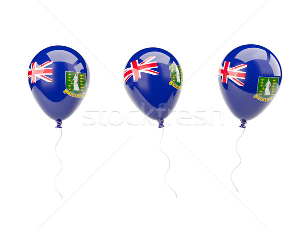 Air balloons with flag of british virgin islands Stock photo © MikhailMishchenko