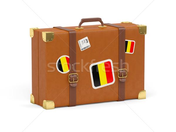 Mala bandeira Bélgica viajar isolado branco Foto stock © MikhailMishchenko
