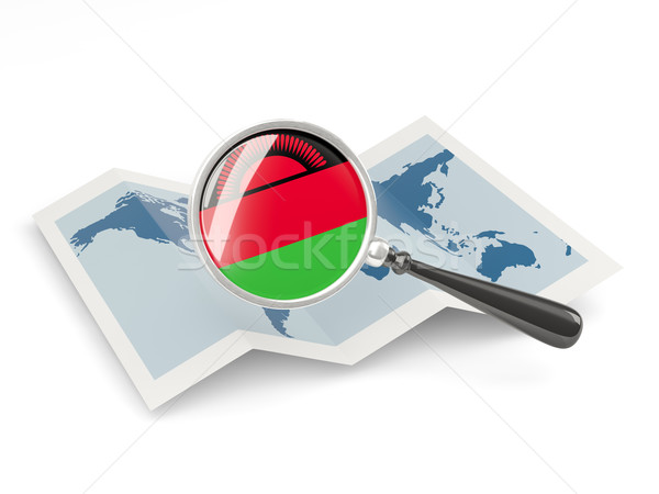 флаг Малави карта путешествия Сток-фото © MikhailMishchenko